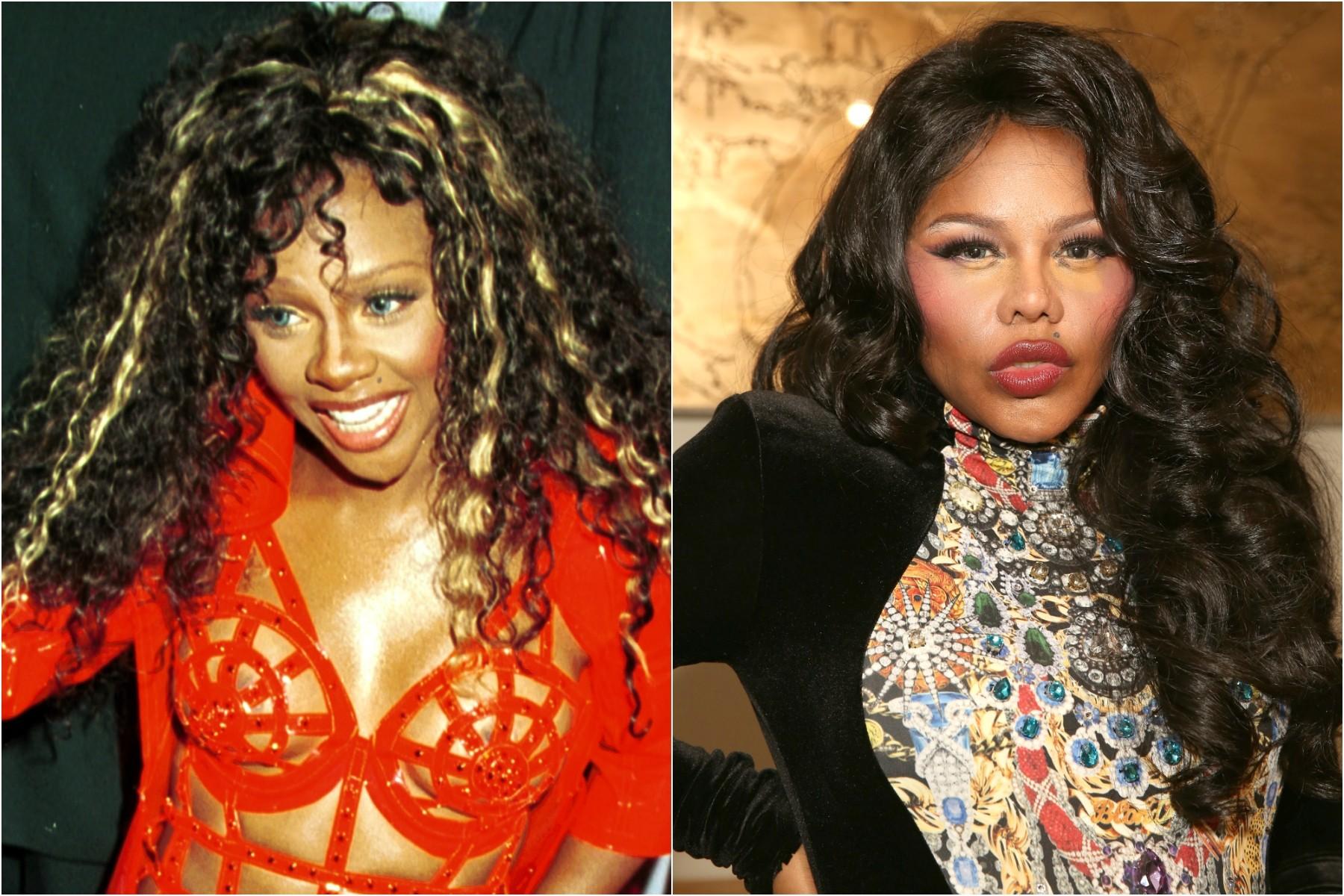 A rapper Lil' Kim em 2000 e em 2014. (Foto: Getty Images)