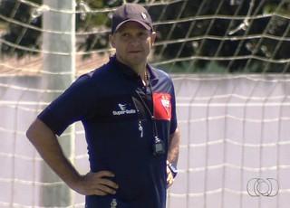 Wagner Lopes,técnico do Atlético-GO (Foto: Reprodução/TV Anhanguera)