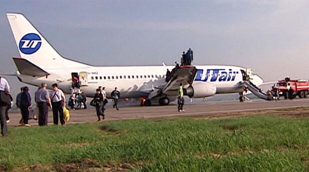 Aeroporto de Moscou ficou fechado por cerca de três horas após o incidente (Foto: BBC)
