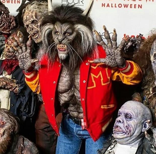 Heidi Kum homenageia Michael Jackson e vai de lobisomem à sua festa de Halloween (Foto: Reprodução/Instagram)