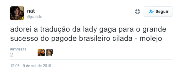 Lady Gaga é comparada ao Molejo (Foto: Reprodução/Twitter)
