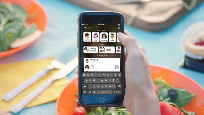 Busca dinâmica vai facilitar o uso do Snapchat (Foto: Divulgação/Snapchat)