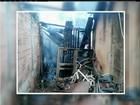 Três idosos são resgatados de casa que pegou fogo em Pádua, no RJ