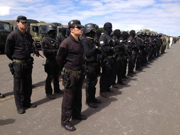 Grupo de Prevenção e Combate ao Terrorismo do Comando Militar do Planalto (Foto: Felipe Néri / G1)