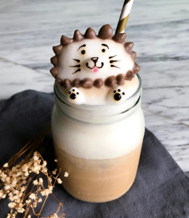 Daphne Tan faz arte 3D com espuma de café (Foto: Instagram/Reprodução)