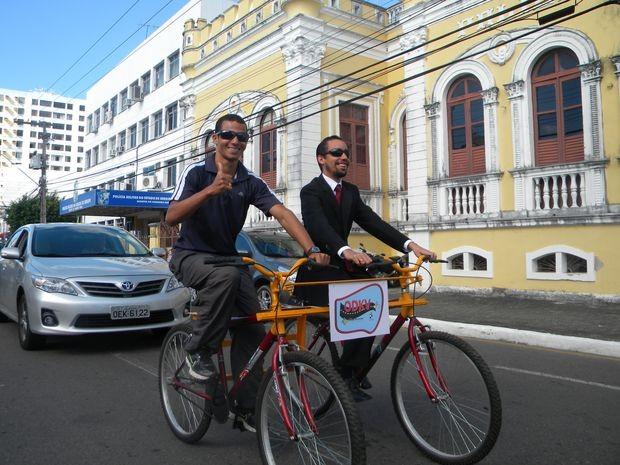 Projeto ODKV foi lançado em Aracaju pelo vereador Lucas Aribé que é deficiente visual  (Foto: Divulgação)