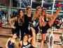 Bárbara Evans treina com Pérola Faria, Bia e Branca Feres: 'Com elas'
