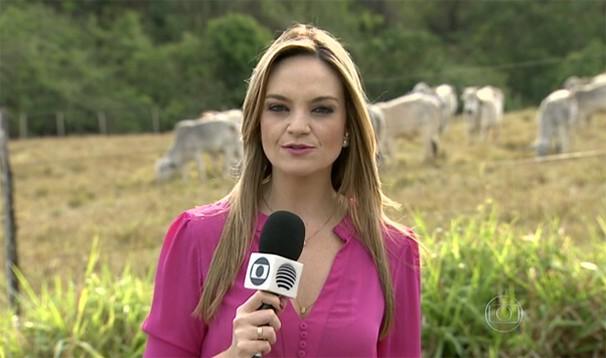 Vivian Padovan apresentou a matéria exibida no Globo Rural (Foto: Reprodução/TV Fronteira)