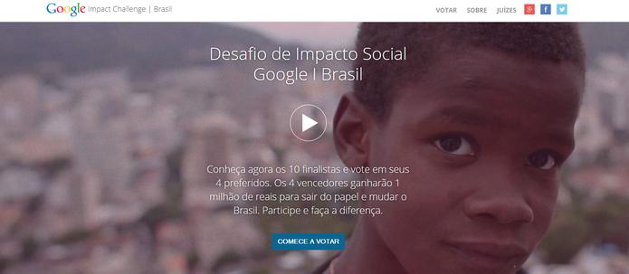 Desafio de Impacto Social Google Brasil vai premiar quatro ações de ONGs brasileiras com R$ 1 milhão (Foto: Reprodução/Google)