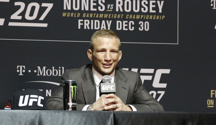TJ Dillashaw; UFC 207; coletiva pós-luta (Foto: Evelyn Rodrigues)