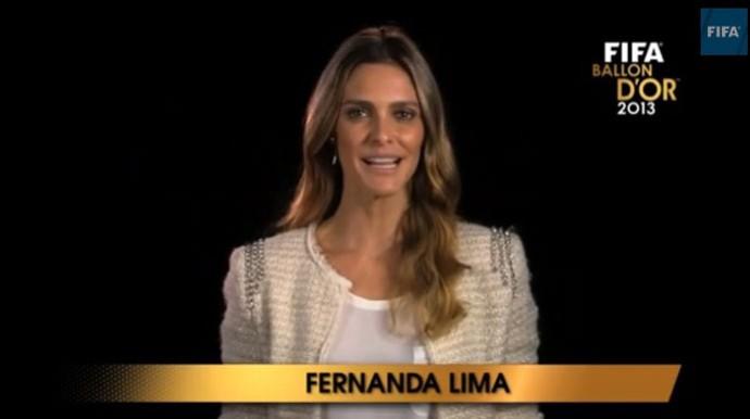 FIFA Fernanda Lima (Foto: Reprodução / Youtube)