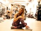 Sheila Mello mostra treino para boa forma e diz: 'Os 40 anos me assustam'