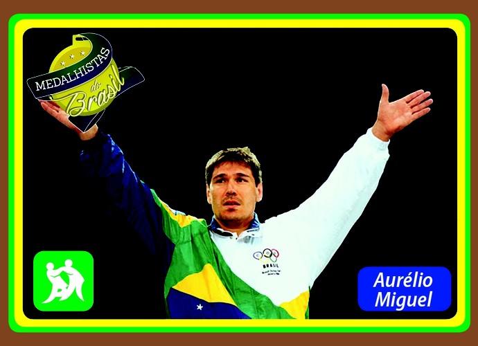 Medalhistas do Brasil card Aurélio Miguel (Foto: Reprodução)