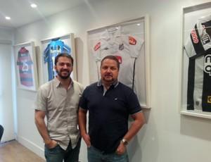 Vantuil Gonçalves e Gérson Sá, da MFD (Foto: Vicente Seda)