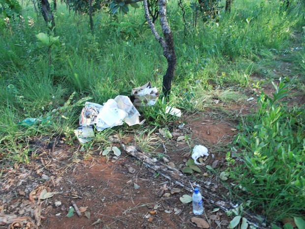 Área no Guará, Distrito Federal, onde vítima ficou até esta quarta-feira (19) (Foto: Polícia Civil/Divulgação)