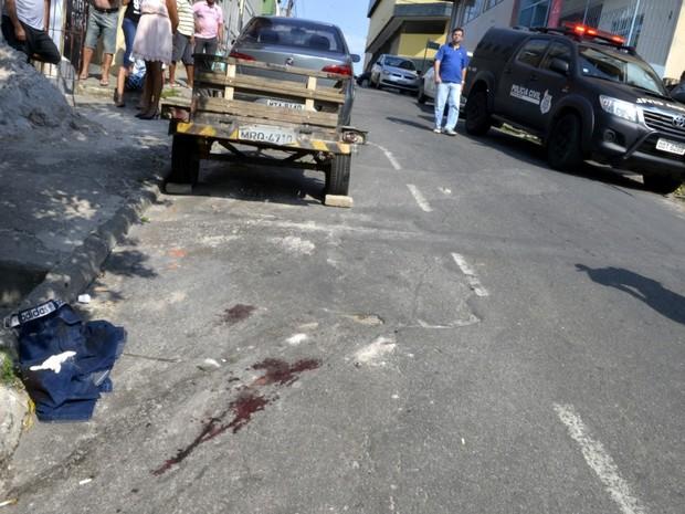 Cena do crime em Cariacica (Foto: Carlos Alberto Silva/ A Gazeta)