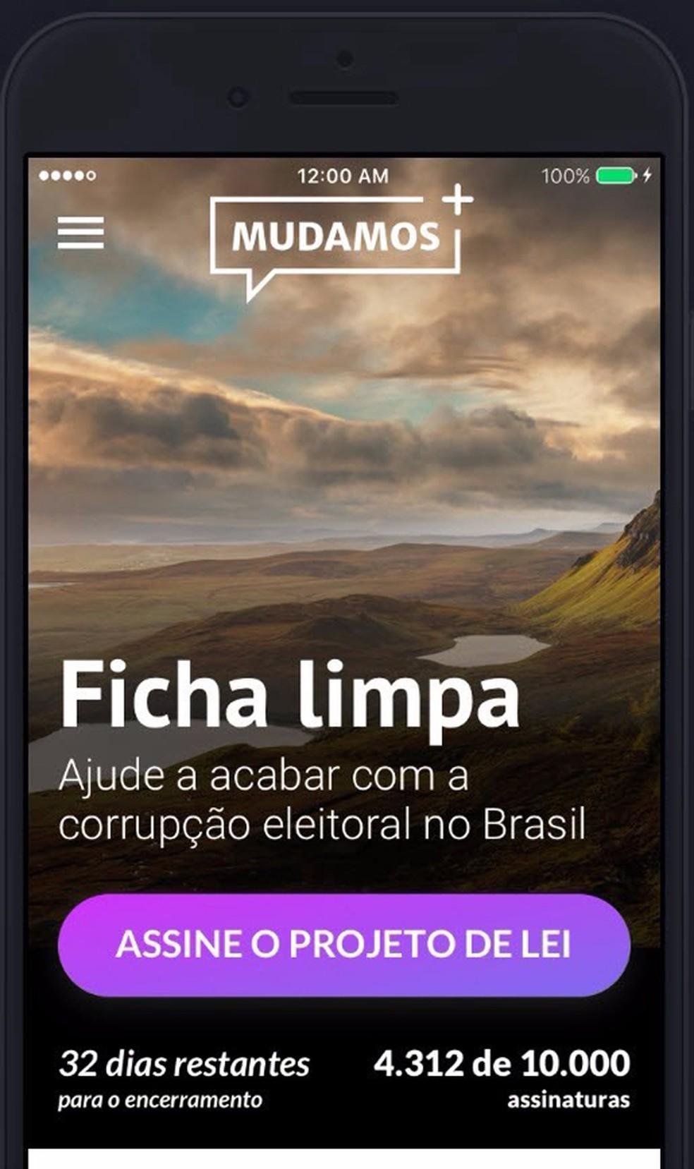 Imagem mostra como funcionará o aplicativo 'Mudamos' (Foto: Divulgação)