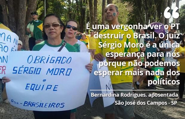 Protesto São José dos Campos 16/08 (Foto: Nicole Melhado)