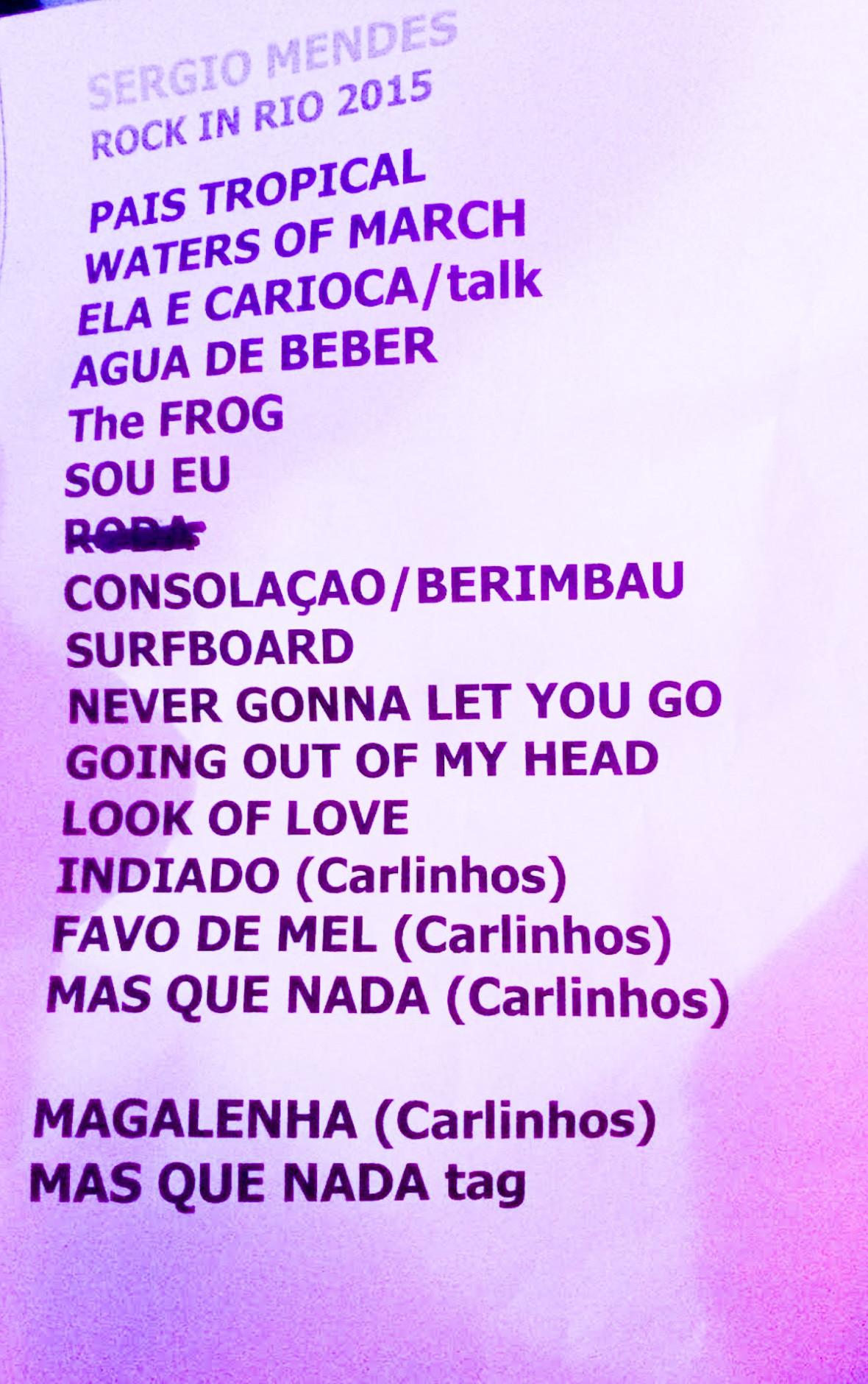 Setlist Sergio M Rock in Rio 2015 (Foto: Multishow)