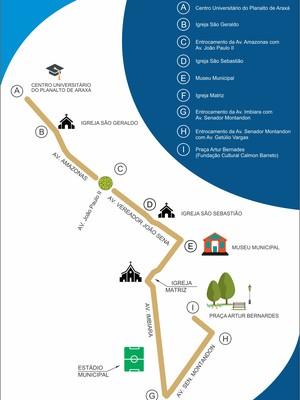 araxa trajeto tocha olimpica 8 de maio (Foto: PMA/Divulgação)