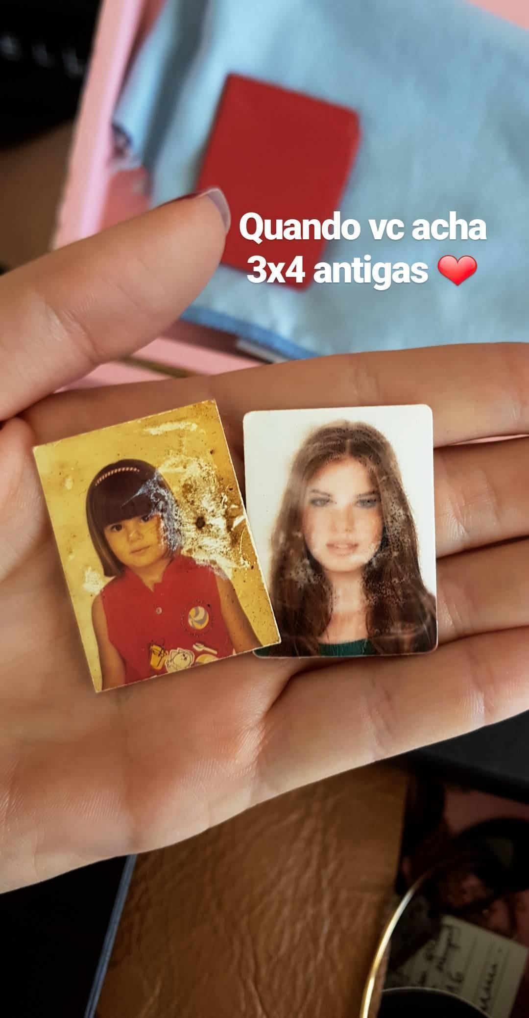 Camila Queiroz mostra cliques antigos (Foto: Reprodução/Instagram Stories)