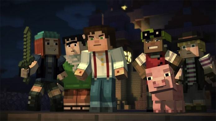 Minecraft: Story Mode é o nome do jogo que traz o gênero adventure para o game da Mojang (Foto: Divulgação)