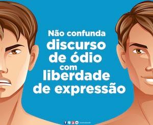 Campanha do Ministério da Justiça sobre liberdade de expressão