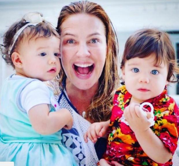 Luana Piovani com os gêmeos (Foto: Reprodução / Instagram)
