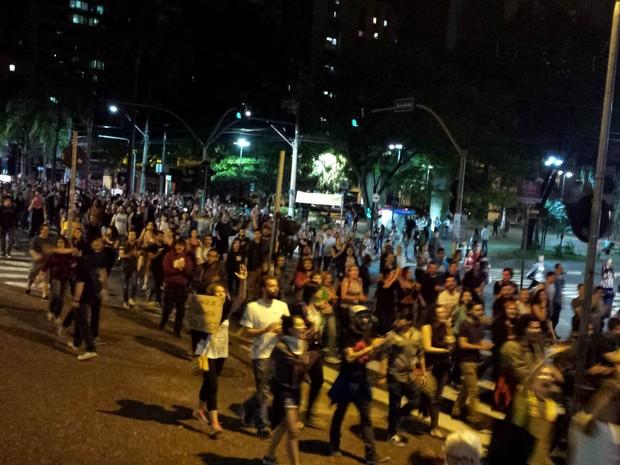Manifestantes de Campinas protestam contra Michel Temer (Foto: Valério Paiva)