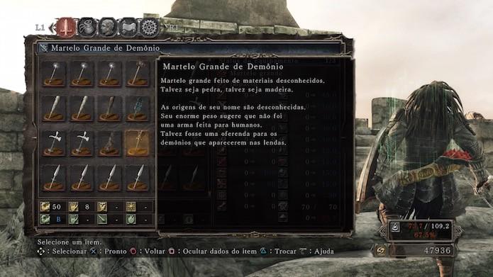 Dark Souls 2: Scholar of the First Sin: Martelo Grande de Demônio (Foto: Reprodução/Victor Teixeira)