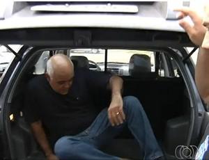 Maurício Sampaio na DIH (Foto: Reprodução/TV Anhanguera)