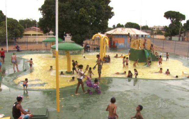 Após dois anos fechado, parque aquático foi fechado (Foto: Roraima TV)