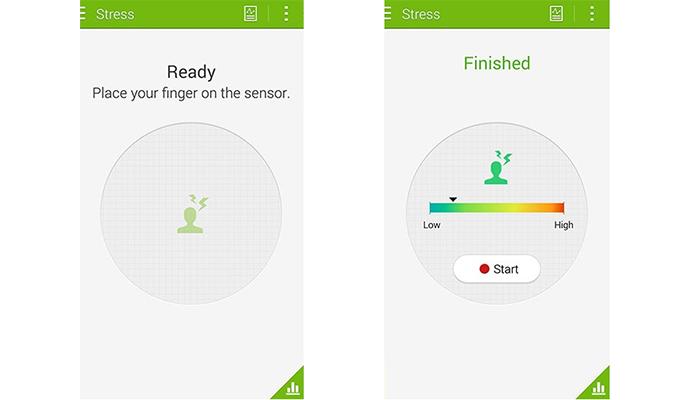 Aplicativo de saúde do Galaxy S5 agora sabe se o usuário está estressado (Foto: Reprodução/Engadget)