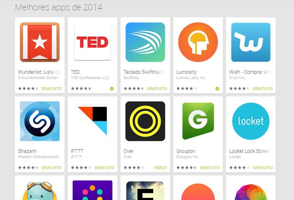 Google elege os melhores aplicativos para smartphone de 2014