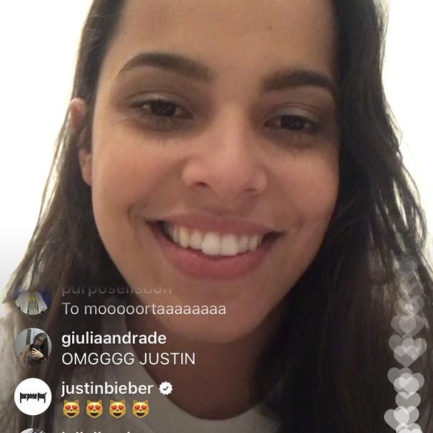 Ex-BBB Mayla se surpreende com atenção do Justin Bieber (Foto: Reprodução Instagram)