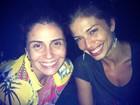 Giovanna Antonelli posa com Grazi Massafera: 'Amo!'