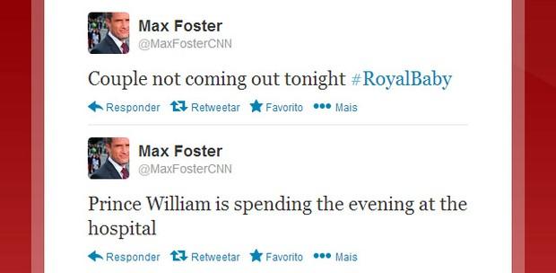 Jornalista da CNN fala sobre o nascimento do bebê real (Foto: Twitter / Reprodução)