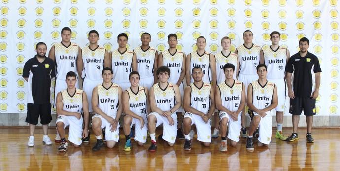 Equipe Uberlândia Praia Clube sub-22 basquete  (Foto: Divulgação/Praia Clube)