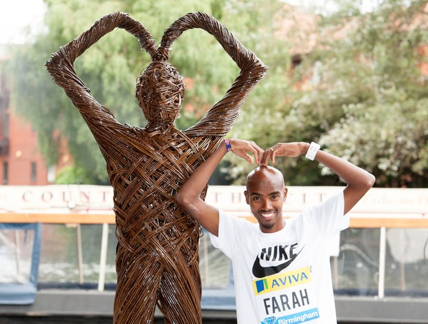 Mo Farah Estátua (Foto: Getty Images)