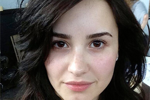 Demi Lovato postou foto de cara limpa em seu Twitter (Foto: Twitter)