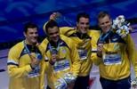 Brasil leva a prata no revezamento 4x100m no Mundial de Natação