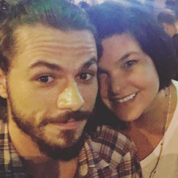 Lucas Montandon com Cristiana Oliveira: amor ou amizade? (Foto: Reprodução/Instagram)