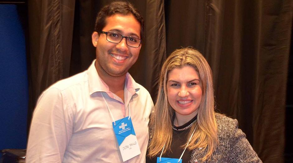 A empreendedora Samyra Felisberto ao lado do marido, que também trabalha na Nutrishop (Foto: Divulgação)