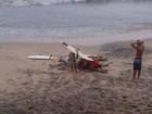 'Sábado estou de volta', diz surfista após ser atingido por raio na Bahia