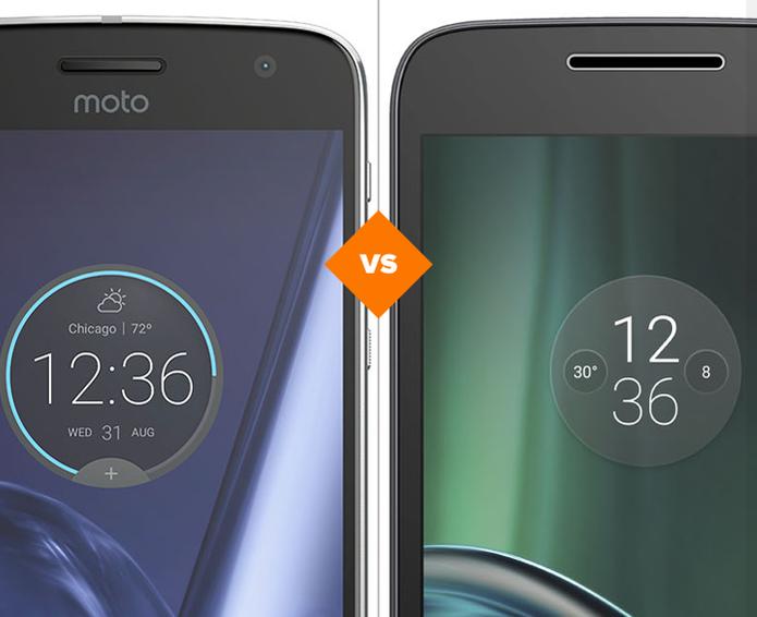 Moto Z Play e Moto G 4 Play: veja comparativo de ficha técnica (Foto: Arte/TechTudo)