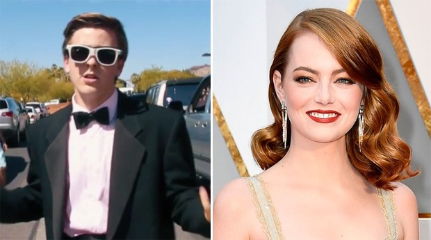 Jacob Staudenmaier e Emma Stone (Foto: Reprodução/Getty Images)