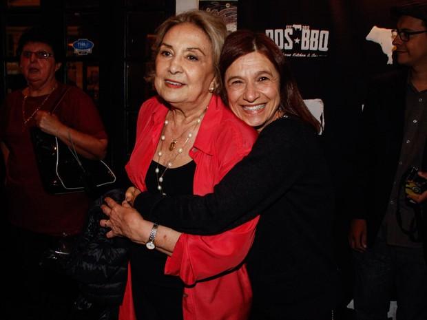 Tuna Dwek no aniversário de 80 anos de Eva Wilma em um restaurante em São Paulo (Foto: Marcos Ribas/ Foto Rio News)