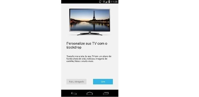 Backdrop é controlado por meio do aplicativo do Chromecast (Foto: Divulgação)
