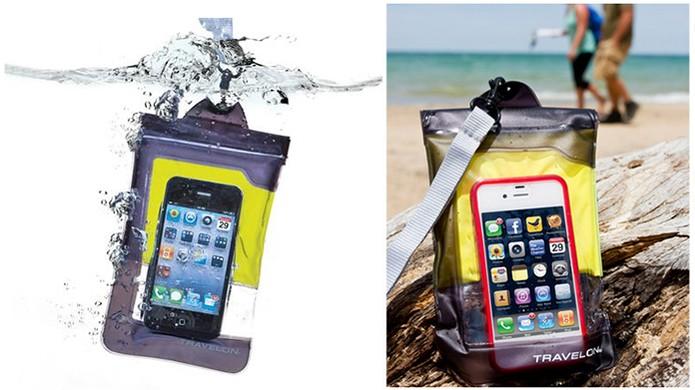 Capa de material flexível pode ser levada para praia ou cachoeira (Foto   Divulgação  88e2fad233b