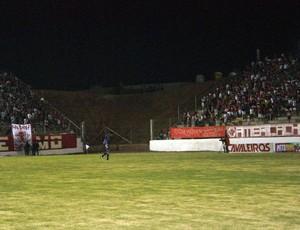 Estádio Barretão, em Ceará-Mirim: módulos não têm ligação (Foto: Augusto Gomes)